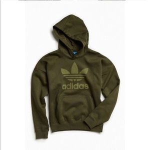 ADIDAS army green hoodie